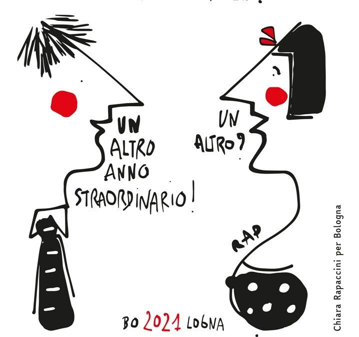 Covid non ferma l'arte: a Bologna il Capodanno diventa un cartoon