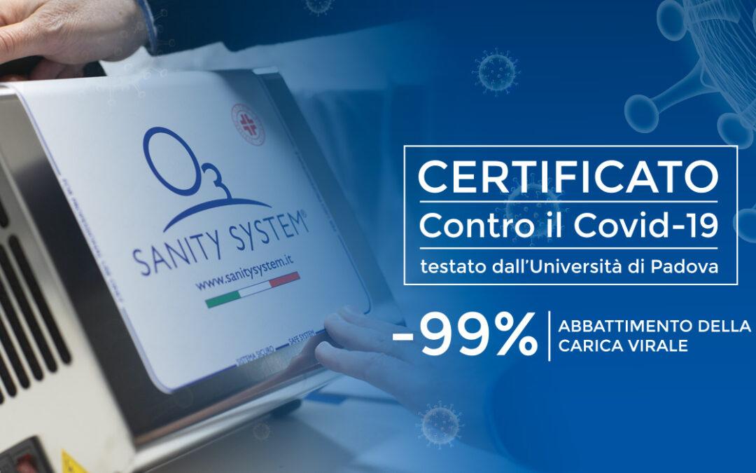 Covid e sanificazione: l'Università di Padova certifica il dispositivo Sanity System